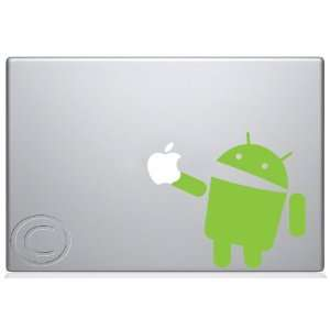 Android Eating Apple Macbook Decal skin sticker