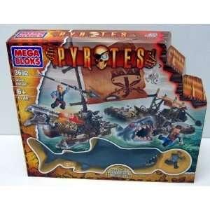 Mega Bloks Pyrates  Shark Escape  Toys & Games