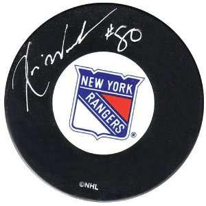 Frozen Pond New York Rangers Kevin Weekes Autographed Puck