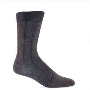 Womens Floral Chevron Merino Wool / Bamboo Crew Sock in
