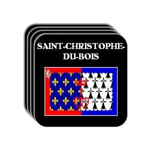 Pays de la Loire   SAINT CHRISTOPHE DU BOIS Set of 4 Mini Mousepad