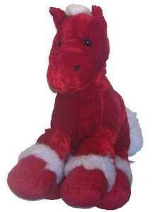 Dandee Dan Dee Red Horse Plush Toy