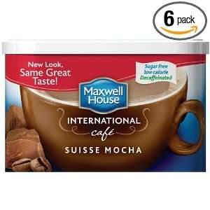 Maxwell House International Coffee Decaf Sugar Free Suisse Mocha Café