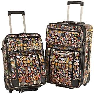 Sydney Love Luggage   Travel Vintage Hotels 2 Piece Luggage Set 80585