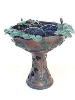 Outdoor Cast Bronze Lotus Vase w/ Frogs Water Fountain