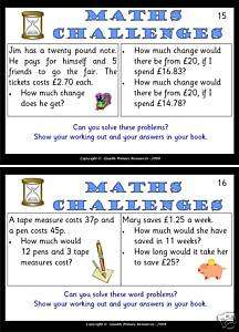 Primary Teaching Resources Year 6 Maths Challenge cards
