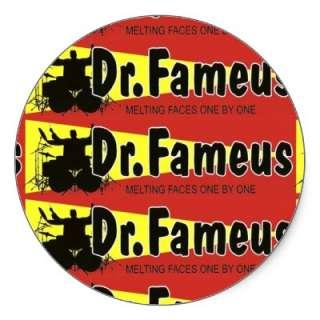 drfameus pattern   Customized Round Stickers from Zazzle