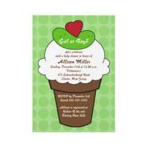 Pickles & Ice Cream Boy or Girl Baby Shower Personalized Invitations