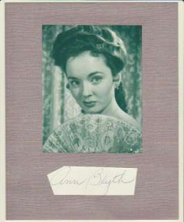 Beautiful 1940s and 1950s film actress Ann Blyth.