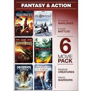 6 Movie Pack Fantasy & Action   Warriors Of Virtue The