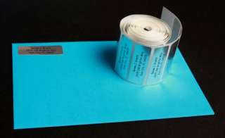 500 Personalized Silver Foil address labels on a roll