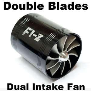 TURBO F1 Z Air Intake Fuel Save Fan Universal Fit BLACK