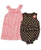 Carters Baby Set, Baby Girls Sleeveless Romper and Dress