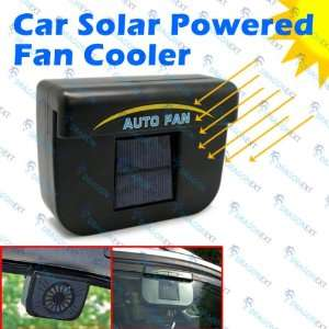 Solar Powered Car Auto Cool Air Vent Cooler Cooling Fan Electronics