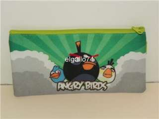ANGRY BIRDS RED BLACK BIRD PIG PENCIL CASE PURSE WALLET BAG TOY ACTION