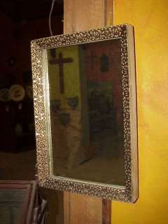 Rustic Mirror Primitive Antique Frame Vintage 14x20