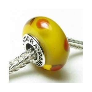925 Silver Core Murano Glass Bead Charm Fits Pandora Bracelet Jewelry