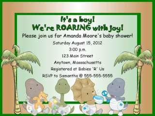 Boy Dinosaur Dino Baby Shower Invitations