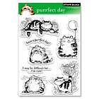 Penny Black Clear Stamps PURRFECT DAY Cat Kitten Cats