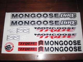 Mongoose Tribe Bike Bicycle BMX Sticker Sheet Decal Replica GT Dyno