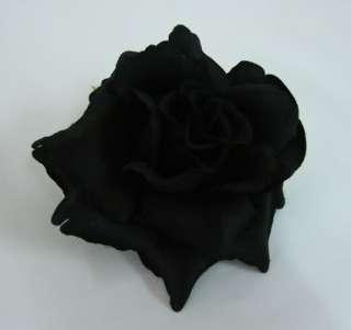 Black Rose flower Hair Clip
