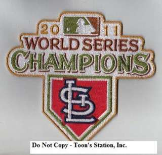 2011 St Louis Cardinals World Series Champions Logo Jersey Patch 100%