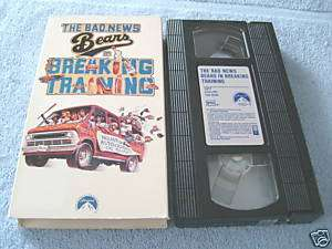The Bad News Bears in Breaking Training (1977, VHS) 097360896534