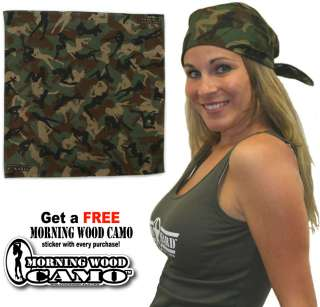 Green Morning Wood Camo Bandana Sexy Female Silhouettes |