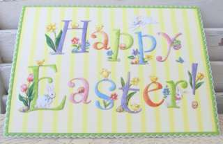 Carol Wilson Happy Easter Card, Playful Bunnies and Chicks, Spring