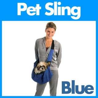 Outward Hound Pet Sling Dog Cat Carrier Messenger BLUE