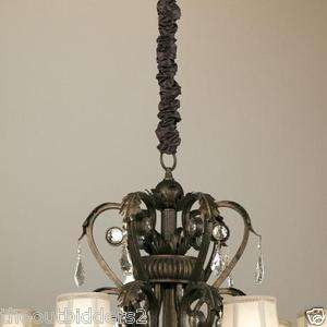 cord cover chandelier ceiling fan pendant red chocolate brown cream