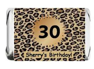 Personalized LEOPARD Cheetah Print Candy Wrappers xzx