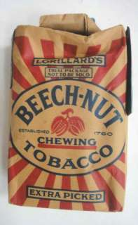 antique BEECH NUT CHEWING TOBACCO PACK nos COLLECTIBLE