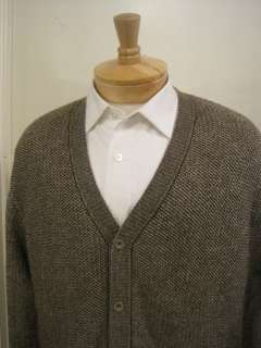 Raphael 100% Merino Wool Natural Color Cardigan Sweater NWT $185 Med