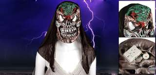 Horrible White Big Teeth Snake Forehead Halloween Mask