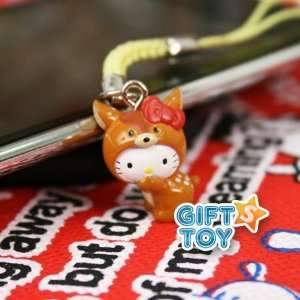 Hello Kitty Deer Cell Phone Charm (Animal) Everything