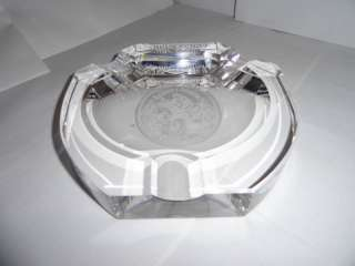 romeo y julieta heavy crystal cigar ashtray NIB