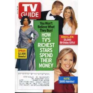 Brad Pitt & Jennifer Aniston, Katie Couric, Catwoman: TV Guide: Books