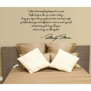 Marilyn Monroe Wall Decal Decor Quote I Believe things happenLarge
