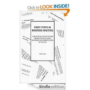 First Steps In Business Writing: Mike Jones:  Kindle Store