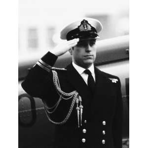 Prince Andrew Aboard the Hms Brazen in the Port of London Awaiting His