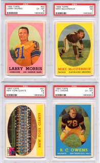 1958 TOPPS Football New York GIANTS Team card #61 PSA 5