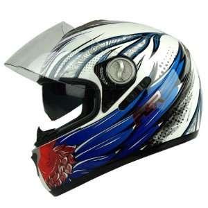 PGR DV100 THOR Dual Visor DOT APPROVED Motorcycle Full Face Helmet (X