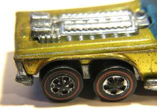 VINTAGE USA 1972 HOT WHEELS REDLINE OPEN FIRE 5881 METALLIC YELLOW