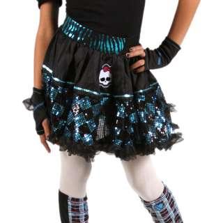 Monster High Petti Skirt, Blue Sequin Skirt, Girls Petti Skirt