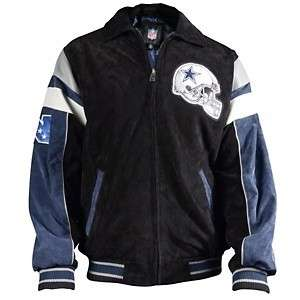 Dallas Cowboys Suede Varsity Jacket w/Contrast Lining NEW FREE USA