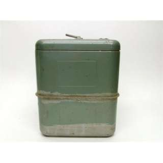 1950S VAGABOND HEMP & CO GREEN METAL STEEL ICE CHEST COOLER