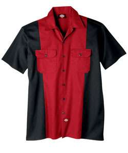 Dickies Two Tone Work Shirt WS513 English Red&Charcoal