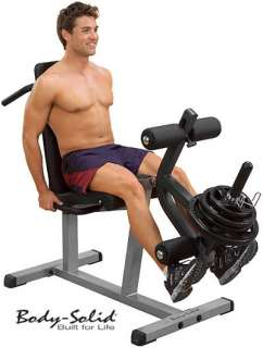 Body Solid Seated Leg Extension Supine Leg Curl GLCE365