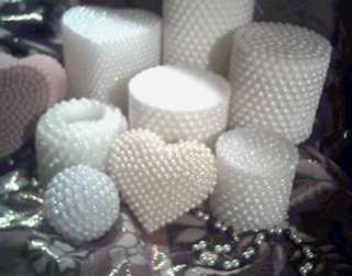 Silicone Pearl Pillar Candle Mold ~ Wedding ~ 3 x 3